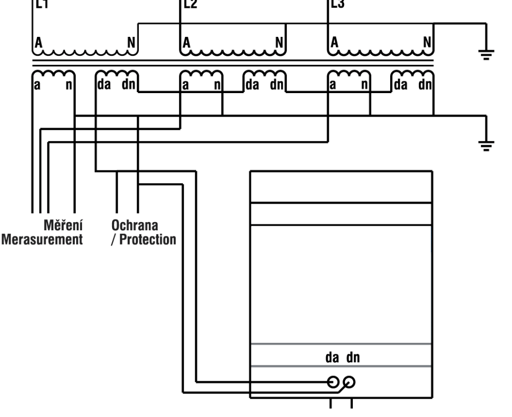 medium resolution of smart load wireup diagram in metering voltage transformer auxiliary winding open delta configuration