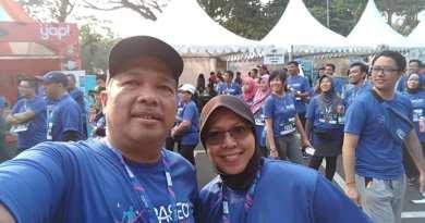 Pelari Maraton Itu Sudah Berginjal Tiga
