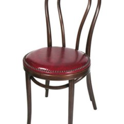 Bent Wood Chair Dining Room Chairs Leather Bentwood Hairpin Style Finishes And Upholstery Options Nail Trimmed Upholstered Seat