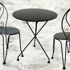 Wrought Iron Chair Kitchen Table 6 Chairs French Style Ice Cream