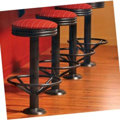 Revolving Chair Bar Stool Fisher Price 4 In 1 High Tubular Steel Stacked Seat Soda Fountain Counter