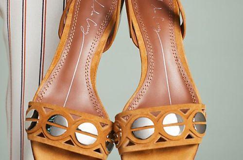 Lola Cruz Half Moon Heeled Sandals