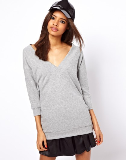 ASOS-Sweatshirt-with-Chunky-Rib-and-V-Neck
