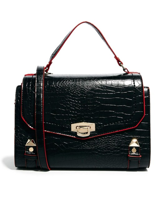 River Island Croc Embossed Bag, $67.50