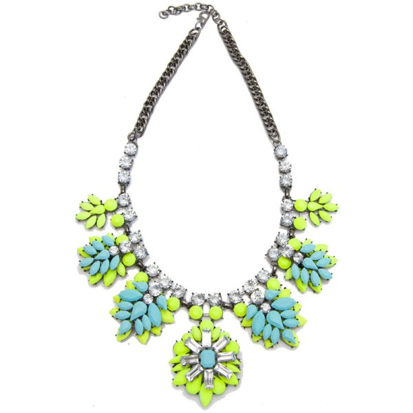 Minty Pendant Sunburst Necklace, $52