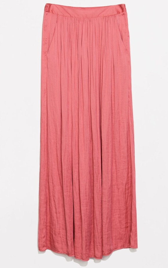Long Skirt with elastic waist and pockets, $79.90