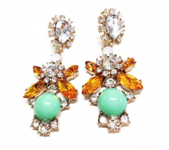 style-b4-fashion-ORANGE-AND-LIGHT-GREEN-EMBELLISHED-EARRINGS