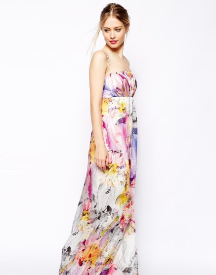 Floral Bandeau Maxi Dress, ASOS, $124