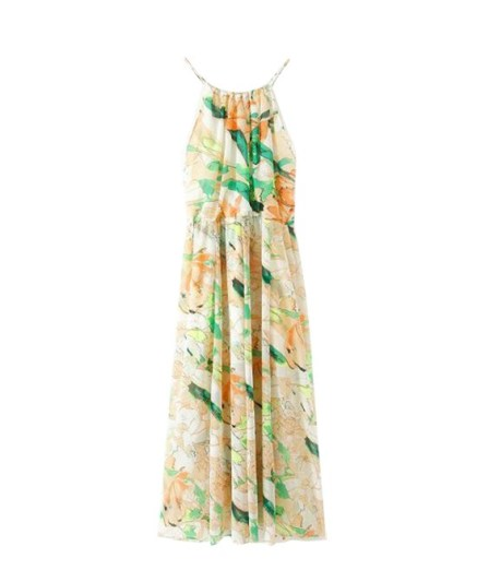 Flower Print Long Chiffon Cami Dress, Chicnova, $53