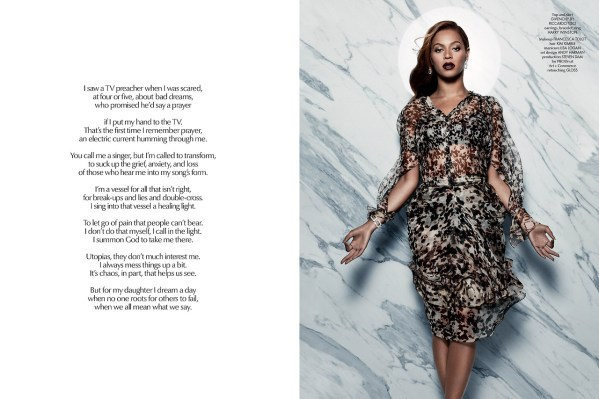 ISSUE 5: QUEEN B CR Fashion Book Beyonce