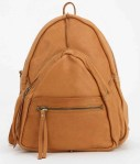 UrbanOutfitter Leather Fleur Triangle Backpack $180