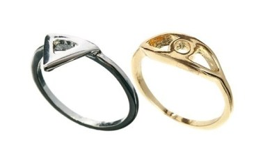 Rock 'N Rose Evil Eye And Triangle Multipack Rings