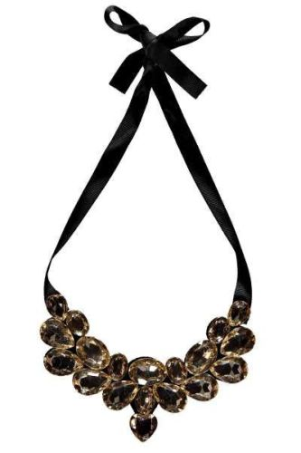 Claudette Ribbon Tie Statement Necklace $12