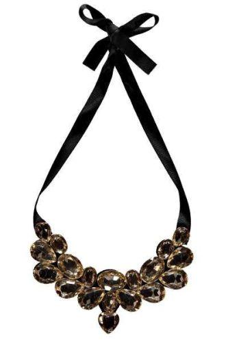 Claudette Ribbon Tie Statement Necklace $12