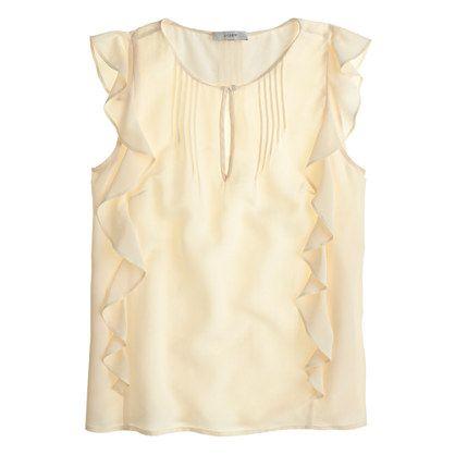 JCrew Silk Cascade Blouse $88