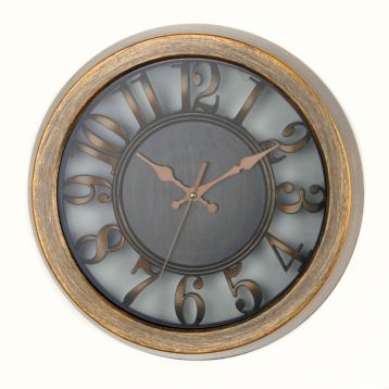 Antiqued Gold Cutout Dial Wall Clock Kirklands $13