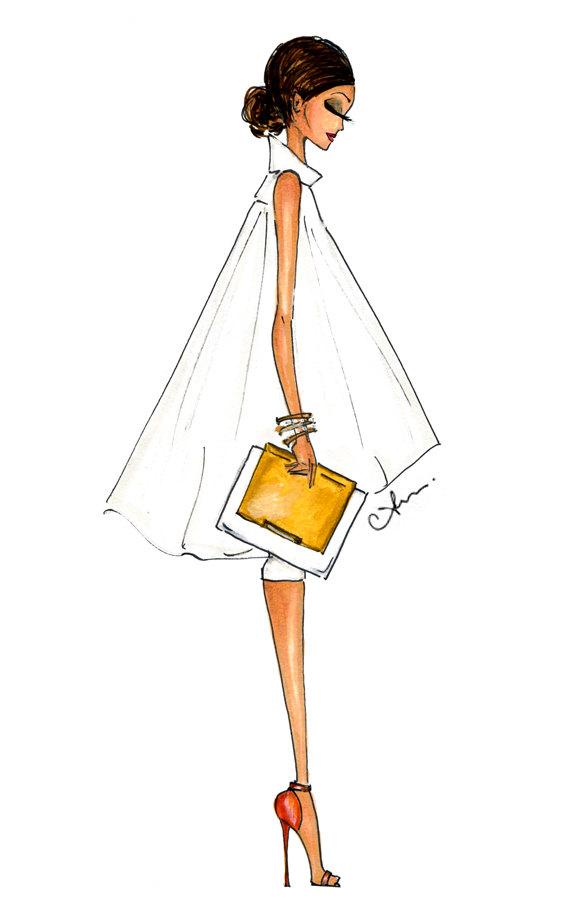 Anum Tariq Alice + Olivia Fashion Illustration