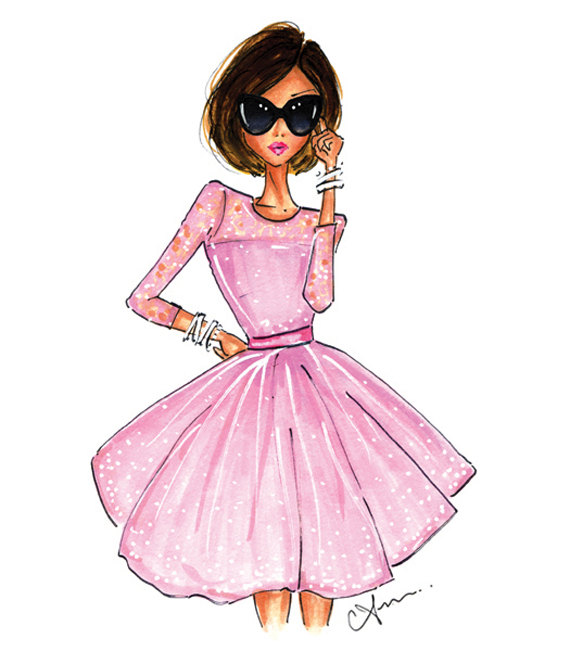 Anum Tariq The Pink Dress Fashion Illustration