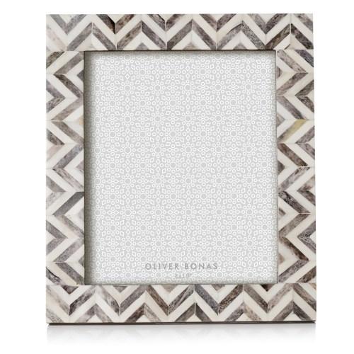 Astrid Chevron Grey Photo Frame-$26