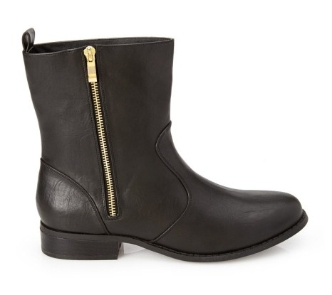Faux Leather Moto Booties, Forever 21, $35