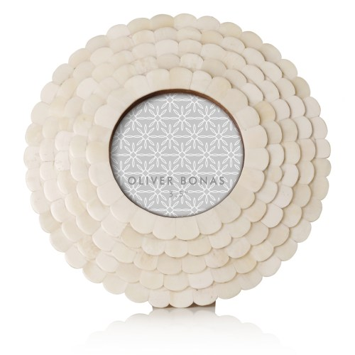 Oliver-Bonas-Astrid Small Round Photo Frame-$14