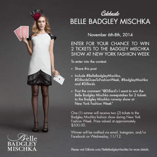 1e383604584 Belle Badgley Mischka Dillards Event
