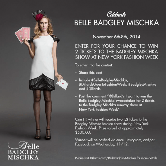 Belle Badgley Mischka Dillards Event