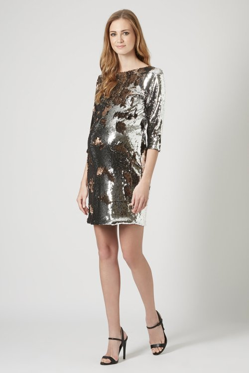 TopShop-Maternity-Two-Tone-Sequin-Dress