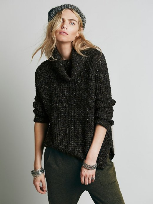 Dylan Tweedy Pullover Free People_charcoal