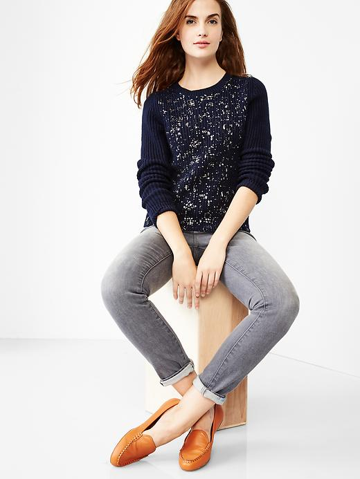 Gap Shrunken metallic sweater