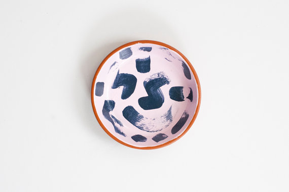 Confetti Riot Shop Hand Painted terracotta ring dish
