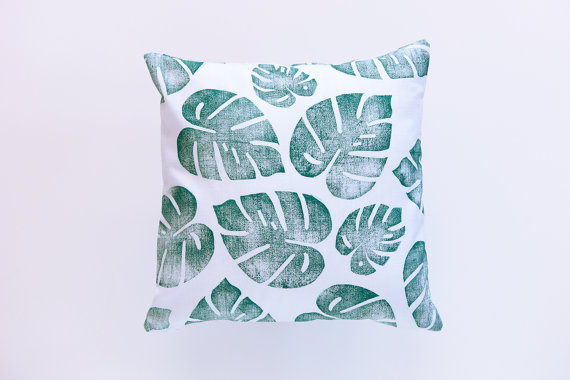 Confetti Riot Shop Tropical Leaf Print Pillow