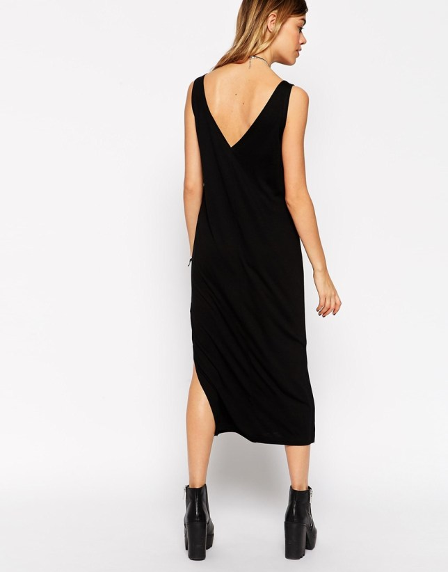 ASOS Tank Midi Dress Side Splits