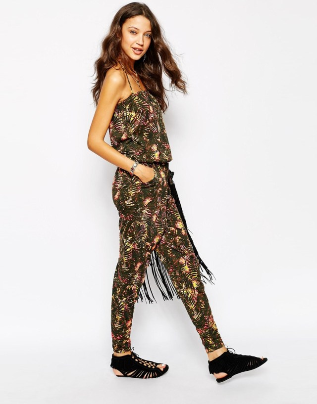 Noisy May Tall Tropical Print Jumpsuit