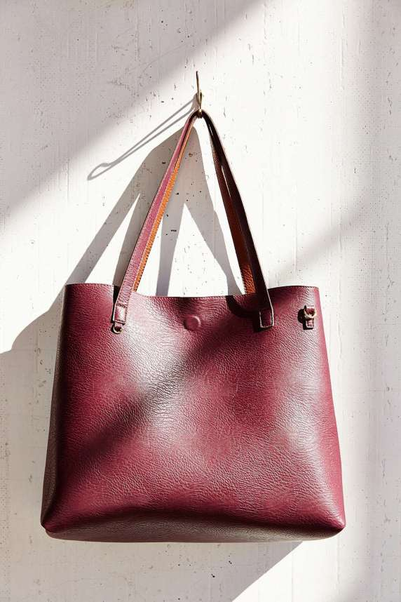 Reversable Vegan Leather Tote Bag Urban Outfitters