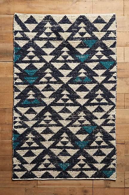 Anthropologie Woven Arrowhead Rug