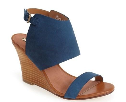 Halogen Clarette Suede Wedge Sandal