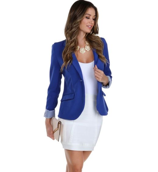 Royal Striped Boyfriend Blazer Windsor