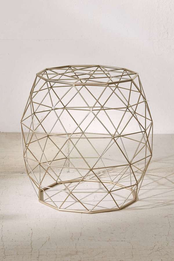 Urban Outfitters Geometric Metal Side Table-2