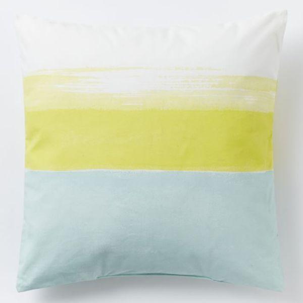 West Elm Colorblocked Sunset Pillow