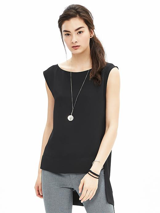Banana Republic Crepe High Low Tunic