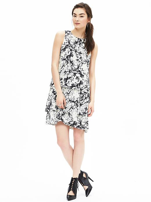 Banana Republic Print Tiered Dress