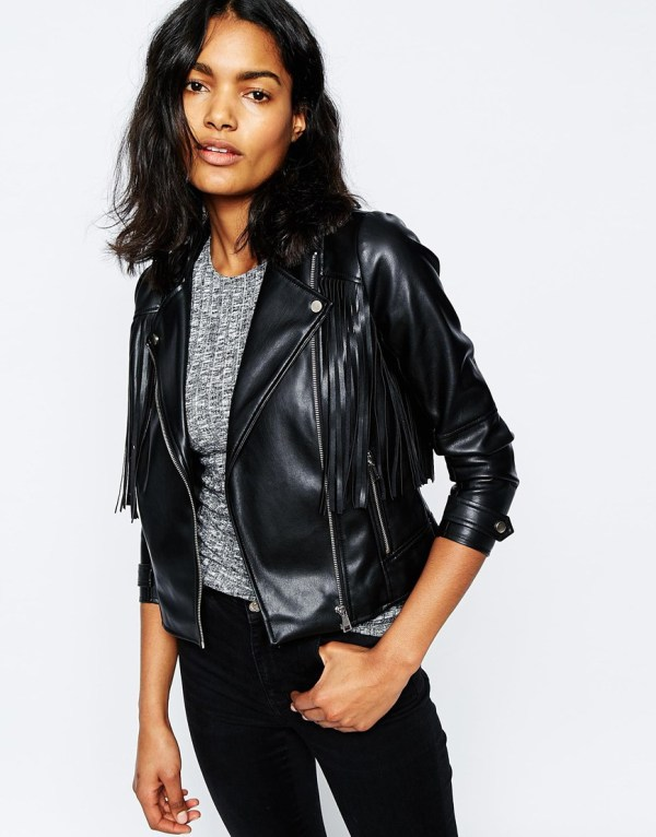 River Island Fringed Biker Jacket