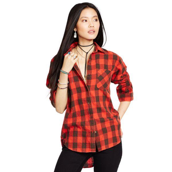 Plaid Boyfriend-Fit Shirt Ralph Lauren