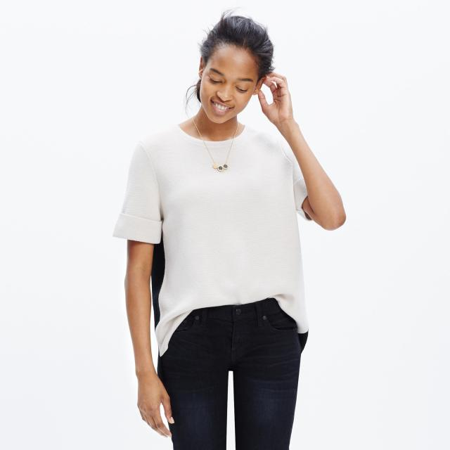 Short Sleeve Color Block Sweater Madewell