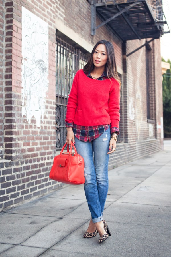 plaid top song of style