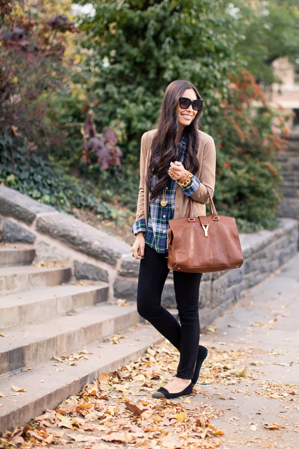 plaid top with love from kat