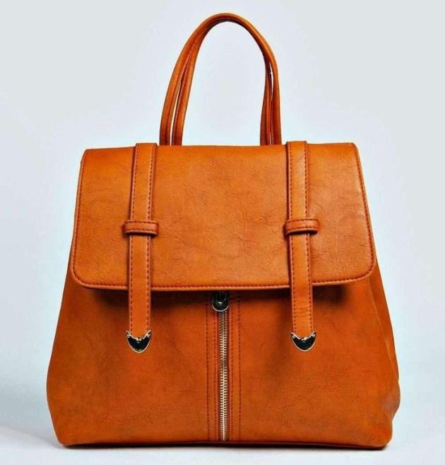 Aleena 2-in-1 Backpack + Top Handle Bag, BooHoo Clothing
