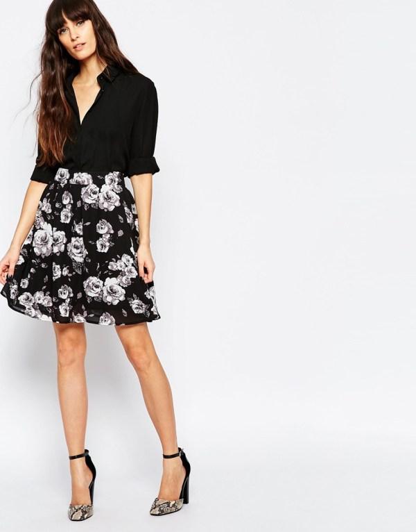 minimum-high-waisted-floral-skirt