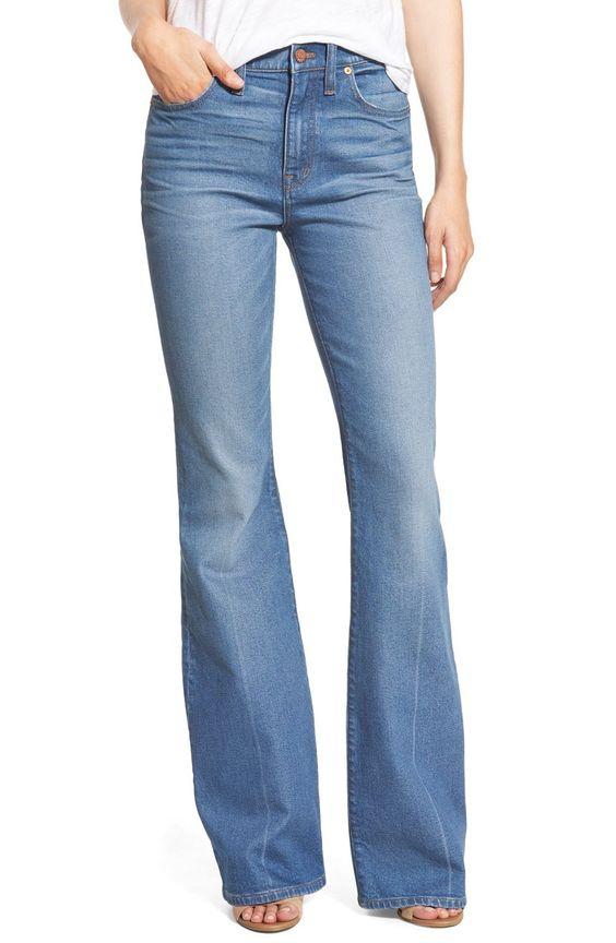 Madewell 'Flea Market' Flare Jeans (Maribel)